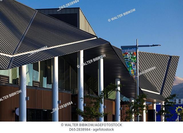 New Zealand, South Island, Christchurch, post-2011 earthquake, new city bus station, exterior