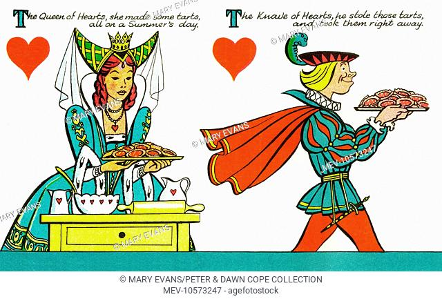 Traditional Nursery Rhyme The Queen Of Hearts