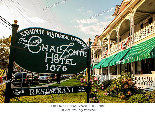 America's first seaside resort and has numerous buildings in the Late Victorian style including ChalFonte Hotel, opened in 1876