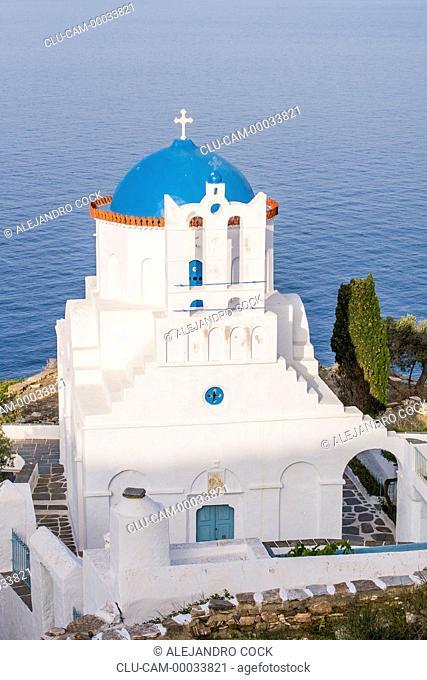 Monastery the Panagiatis Poulatis, Sifnos, Kastro, Islands of Ciclades, Greece, Western Europe