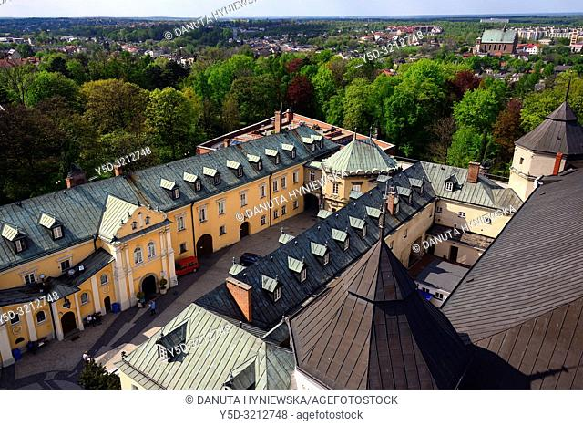 Aerial view for Pauline Fathers monastery from the tower of Jasna Gora Basilica, Jasna Gora - most famous Polish pilgrimage site