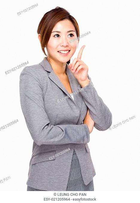 Business woman think of idea