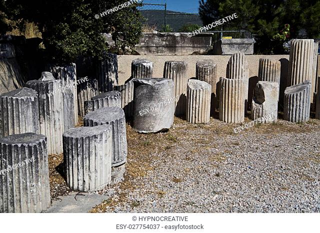 Ancient remains in Bodrum, Turkey