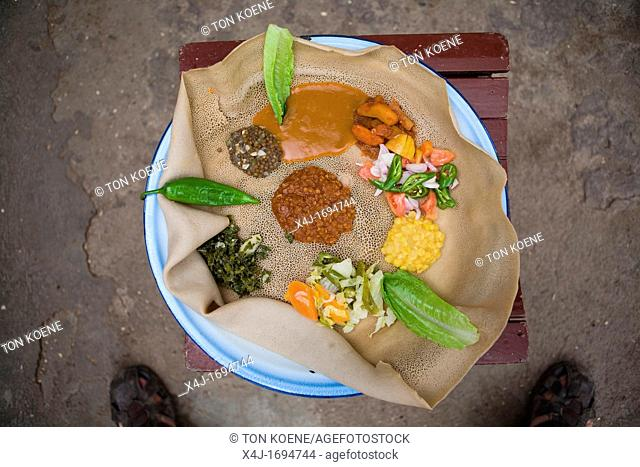most important part of an Ethiopian meal is the Injerra, a sort of pancake made of Â'TeffÂ' The injerra is eaten with hands The teff sorghum is first stammed...