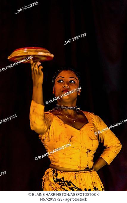 """""""""""Dances of Sri Lanka"""" cultural performance, Kandy, Central Province, Sri Lanka"