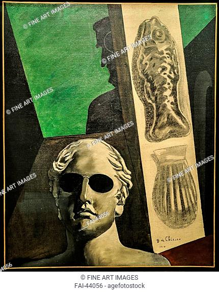 Guillaume Apollinaire by De Chirico, Giorgio (1888-1978)/Oil on canvas/Surrealism/1914/Italy/Musée national d'art moderne, Centre Georges Pompidou, Paris/81