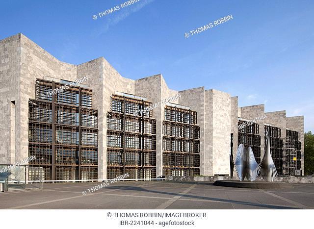City Hall, City Council, architect Arne Jacobsen, Mainz, Rhineland-Palatinate, Germany, Europe, PublicGround