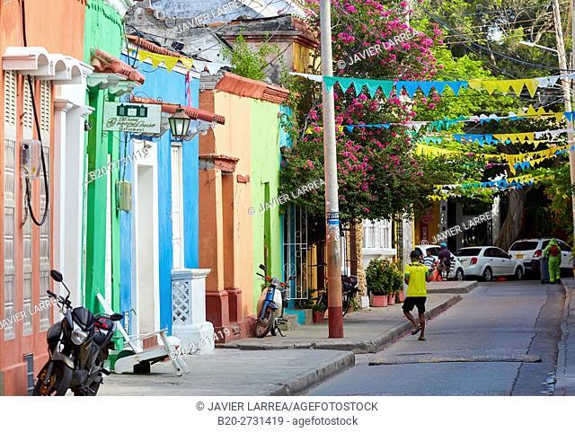 Calle del Pozo, Getsemani, Cartagena de Indias, Bolivar, Colombia, South America