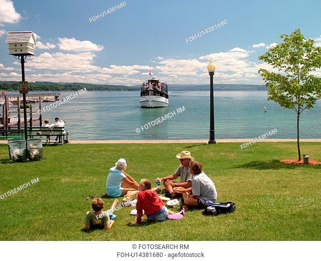 Skaneateles, NY, New York, Finger Lakes Region, Skaneateles Lake, Mid Lakes Navigation Company, excursion, sightseeing tour boat