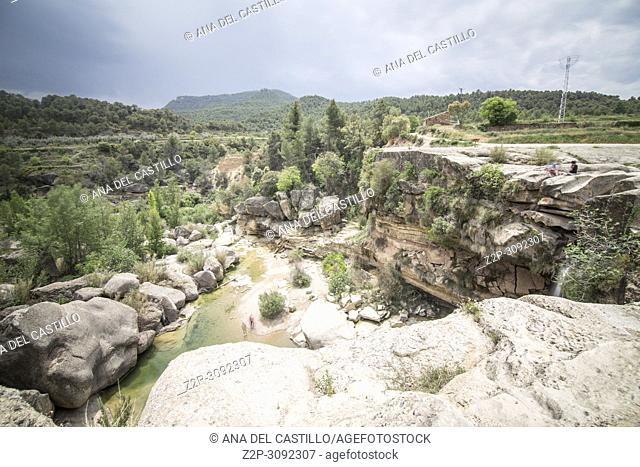 El Salt waterfall in Matarranya county Teruel Aragon Spain