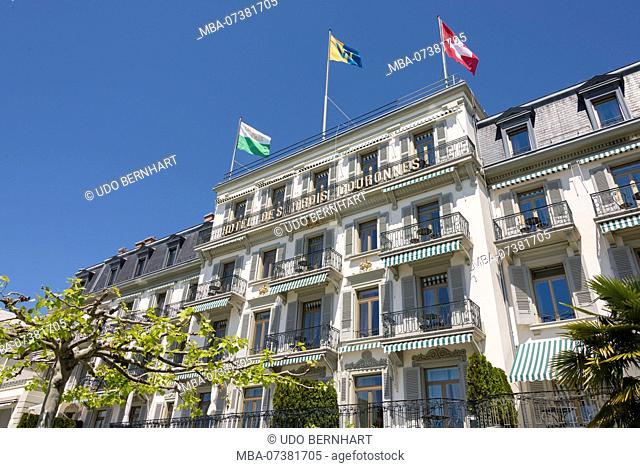 Hôtel des Trois Couronnes, Vevey old town, on Lake Geneva, Canton of Vaud, Western Switzerland, Switzerland