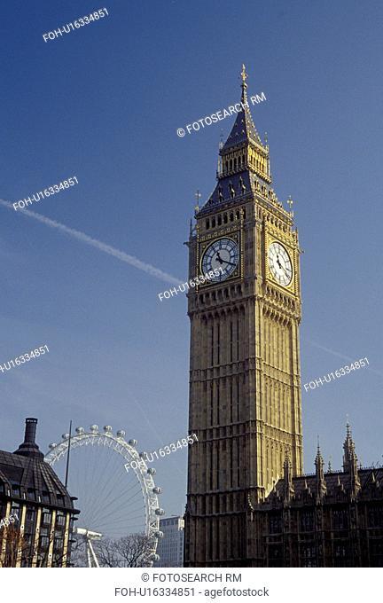 London, England, Great Britain, United Kingdom, Europe, Big Ben in Westminster