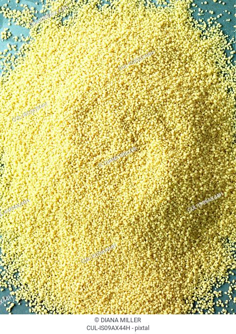 Pile of couscous, close-up