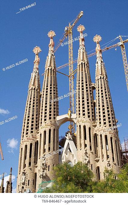 Sagrada Familia temple, Barcelona, Catalonia, Spain