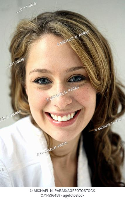 Caucasian woman smiling into the camera