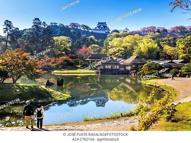 Japan, Hikone City, Hikone Castle, Rakurako-en Garden