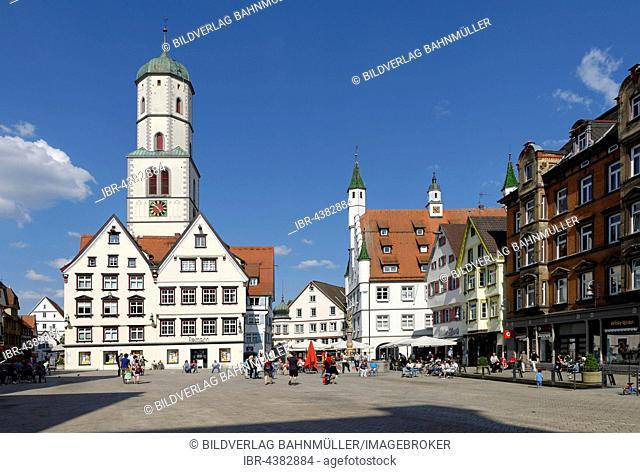 Marktplatz, Parish Church of St. Maria and Martin, Biberach an der Riss, Upper Swabia, Baden-Württemberg, Germany