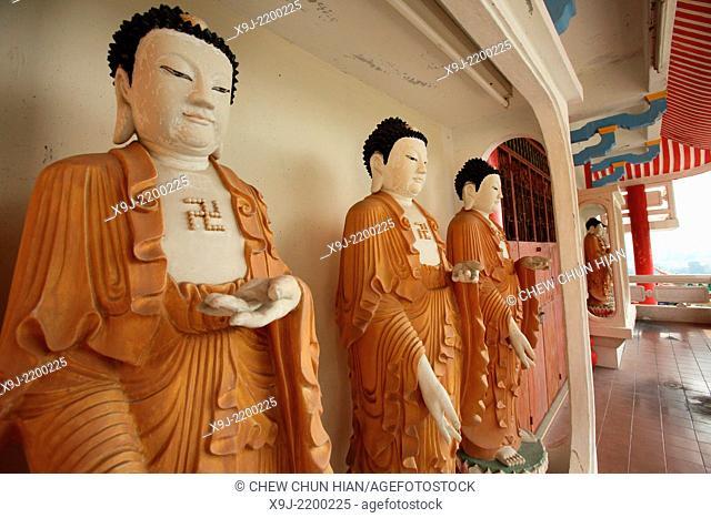 Buddha statues in the Kek Lok Si temple, Penang, Malaysia