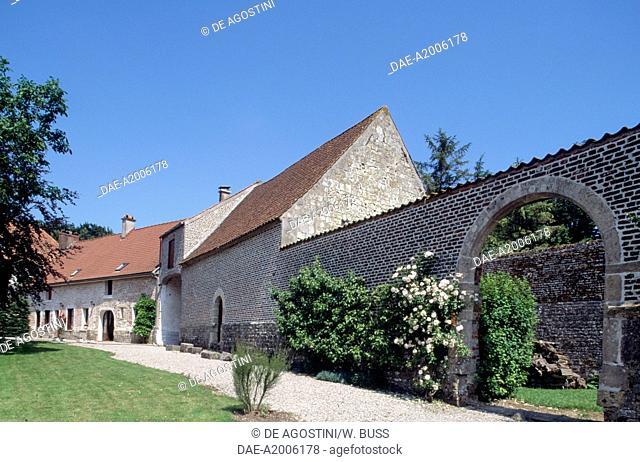 Glimpse of Chateau de Fiennes, Picardy. France, 16th century