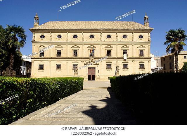 Úbeda (Jaén) Spain. Main facade of the Juan Vázquez de Molina Palace in the town of Úbeda