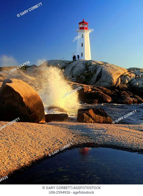 Peggy's Point Lighthouse at Peggy's Cove, Nova Scotia, Canada