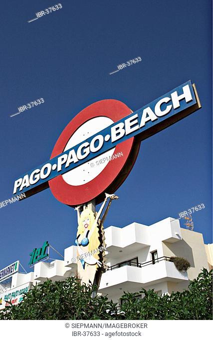 Pago Beach at the Platja d'en Bossa in Ibiza