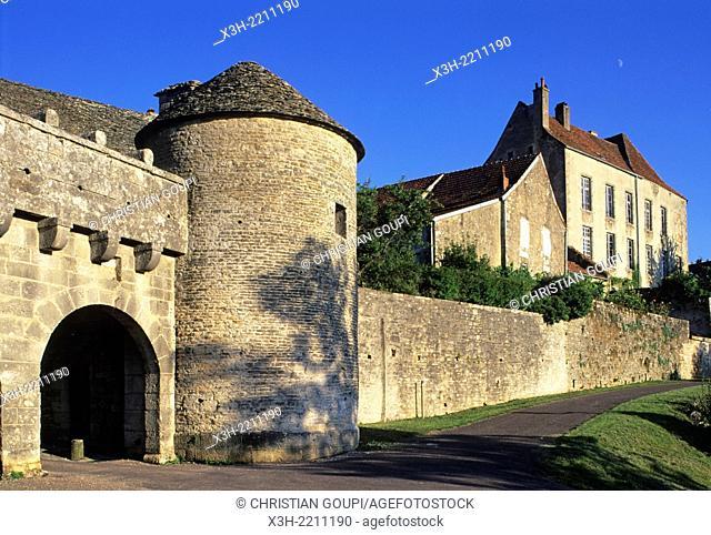 Porte du Val, Flavigny-sur-Ozerain, Cote-d'Or department, Burgundy region, France, Europe