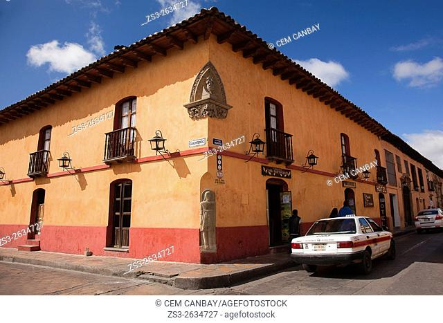 Colonial house at the historic center, San Cristobal de las Casas, Chiapas State, Mexico, North America
