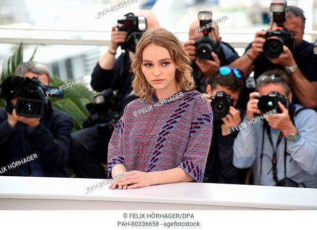 Actress Lily-Rose Depp poses during the photocall for 'La Danseuse' (The Dancer) at the 69th annual Cannes Film Festival, in Cannes, France, 13 May 2016