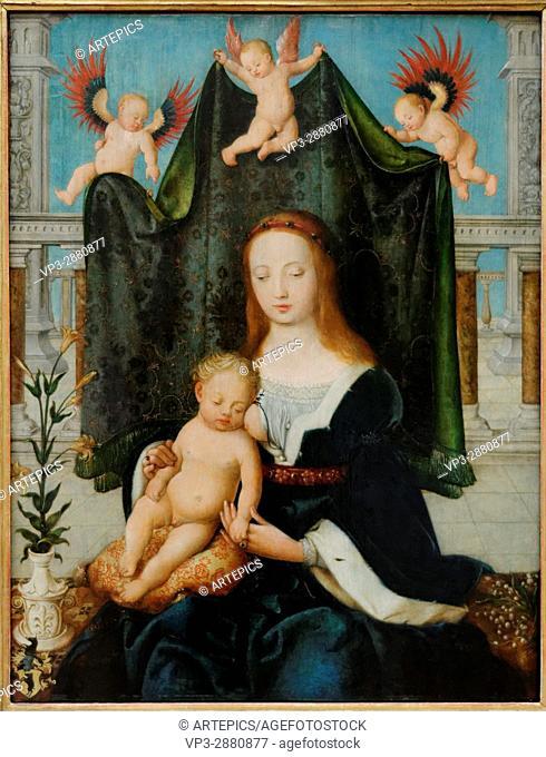 Hans Holbein - Mary and the Sleeping Christ Child - 1520 - XVI th Century - German School - Gemäldegalerie - Berlin