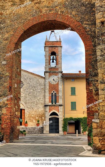 San Quirico d'Orcia, church San Francesco, Tuscany, Italy
