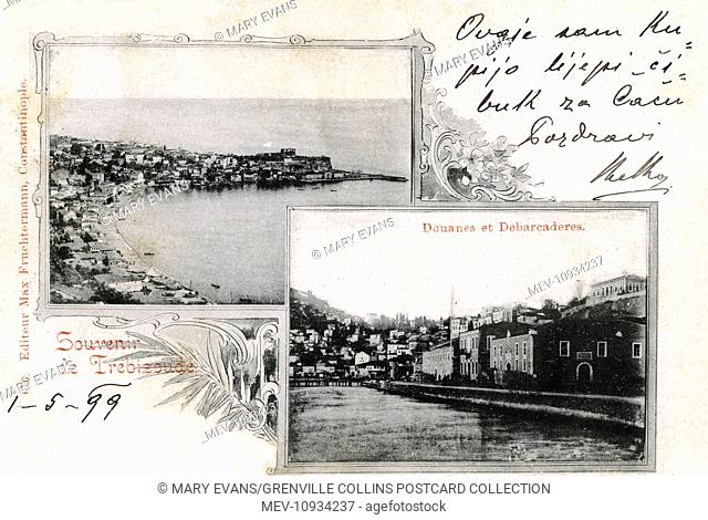 Trabzon - Turkey - Harbour and Customs House. The capital of Trabzon Province. Trabzon was located on the historic silk road route and during the Ottoman period