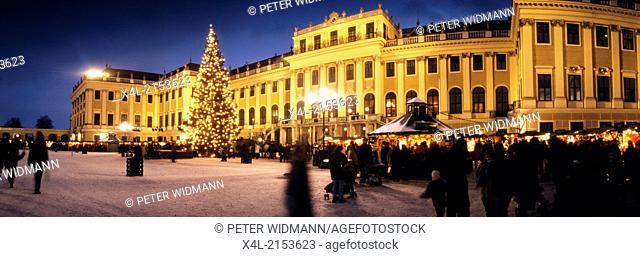 Advent Market at Schoenbrunn Castle, Vienna, Austria