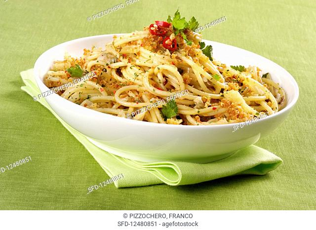 Spaghetti with anchovies