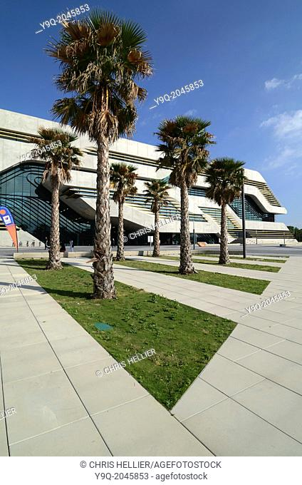 Pierresvives Sports Centre by Zaha Hadid & Palm Trees Montpellier France
