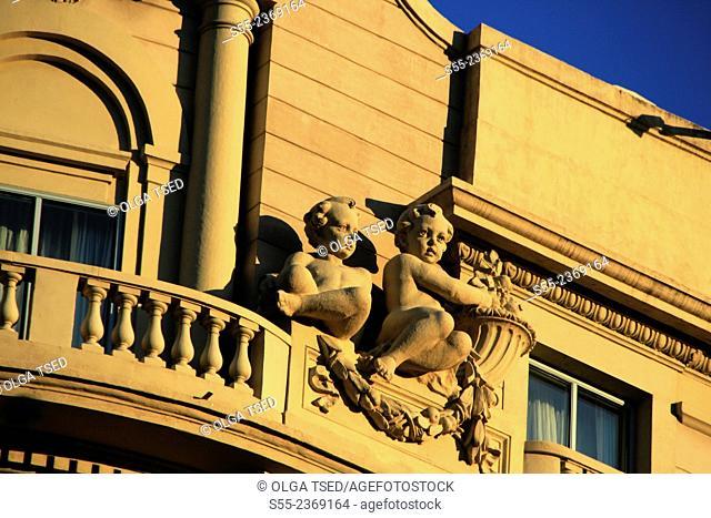 Hotel Palace. Building detail. Barcelona, Catalonia, Spain
