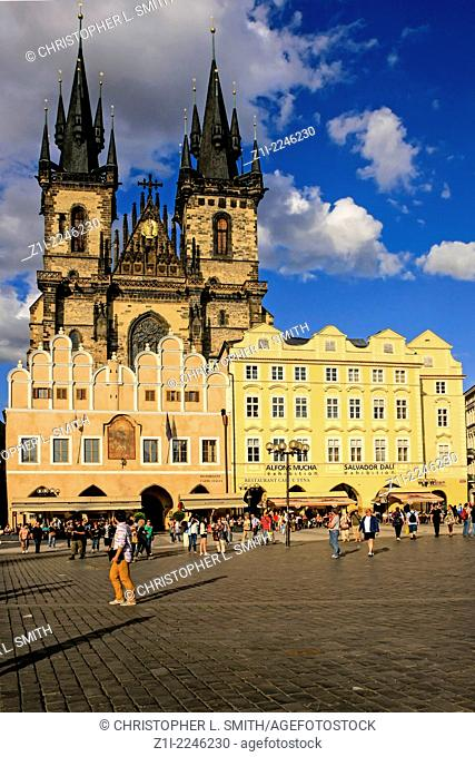 Church of Our Lady of Tyn in Staromestska Square Prague