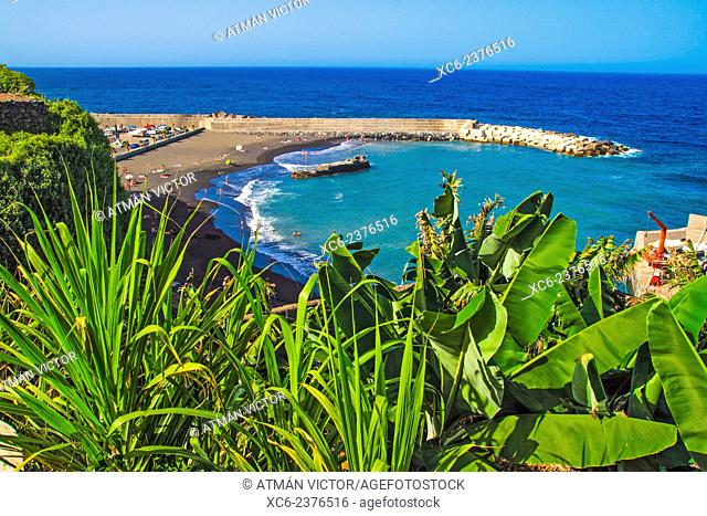 Puerto Espindola beach, La Palma island . Canary islands . Spain