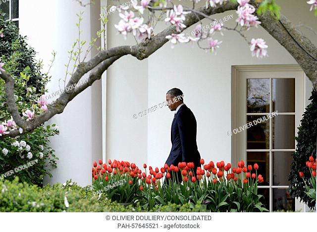 President Barack Obama departs the White House April 15, 2015 in Washington, D.C. President Obama is traveling to Charlotte, North Carolina