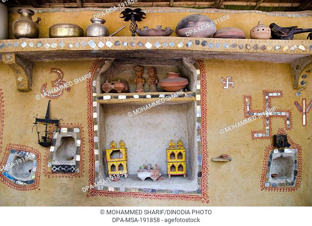 traditional village home wall decoration jodhpur rajasthan