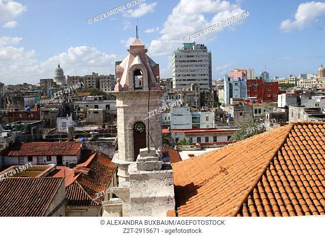 Cathedraldel la Hababa views in La Hababa Vieja, Havana, Cuba