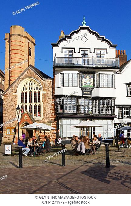 Mol's Coffee House, Cathedral Close, Exeter, Devon, England