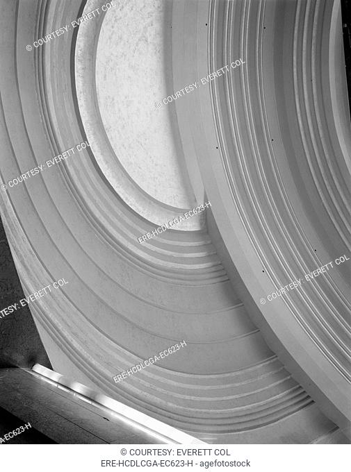 Cincinnati Union Terminal, detail of dome interior, constructed in 1933, partially demolished in 1974, Cincinnati, Ohio, photograph circa early 1970s