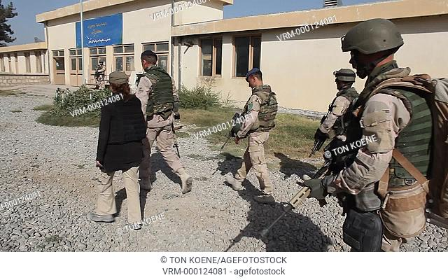 dutch military on patrol in kunduz, Afghanistan