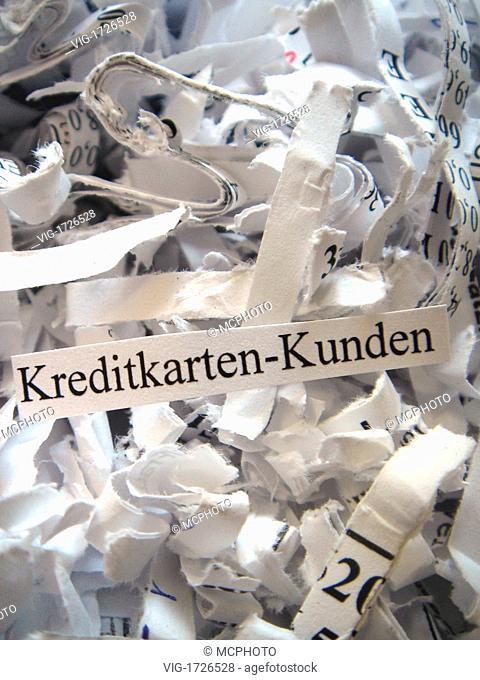 scraps in a document shredder - 01/01/2009