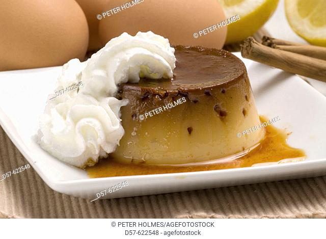 Caramel cream with Chantilly