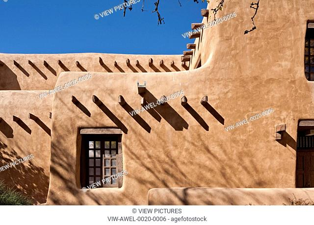 New Mexico Museum of Art, Santa Fe, United States. Architect: Isaac Hamilton Rapp, 1917. Vernacular wall details