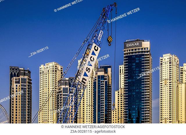 Emaar skyscrapers at Jumeirah Beach Residence, Dubai, UAE