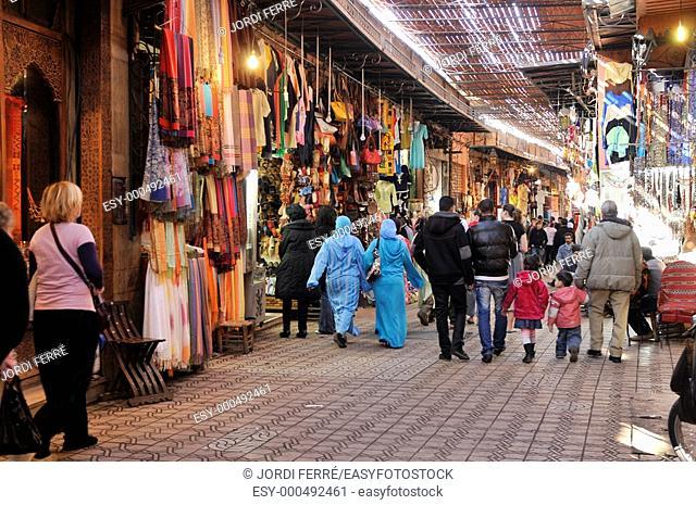 Medina's souk, Marrakech, Morocco, Africa, december 2009