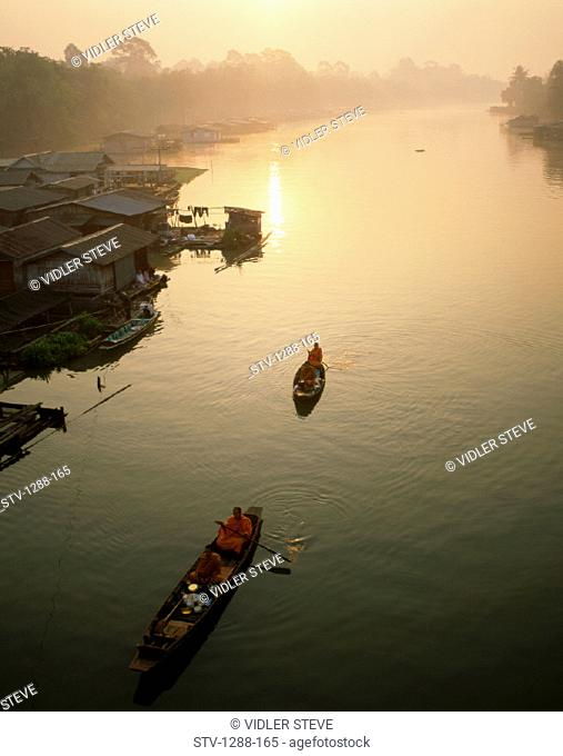 Asia, Boat, Holiday, Landmark, Mekong, River, Sunrise, Thailand, Tourism, Travel, Vacation